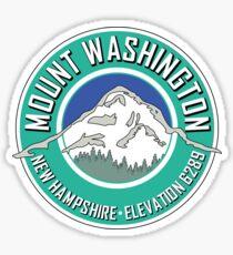 MOUNT WASHINGTON NEW HAMPSHIRE MOUNTAIN CLIMBING HIKING EXPLORE TEAL Sticker