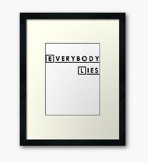 House MD Everybody Lies Hugh Laurie Framed Print