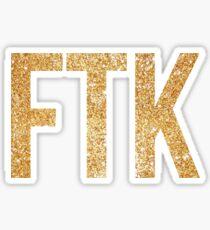 ftk gold glitter Sticker