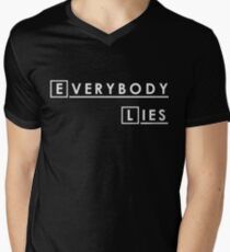 House MD Everybody Lies Hugh Laurie Men's V-Neck T-Shirt