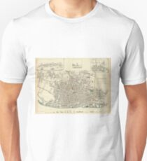 Vintage Map of Liverpool England (1836) Unisex T-Shirt