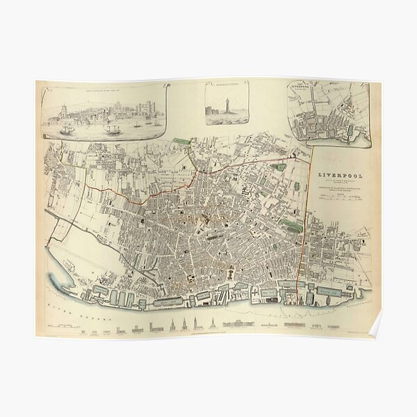 1800/'S MAP ENGLAND AND WALES LONDON NEWCASTLE OXFORD REPRO POSTER