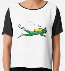 Green Diver Chiffon Top