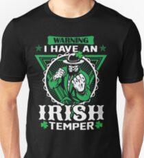 Warning I Have An Irish Temper T-Shirt T-Shirt