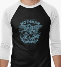 Mothman - Cryptids Club Case file #299 Baseball ¾ Sleeve T-Shirt