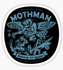 Mothman - Cryptids Club Case file #299 Sticker