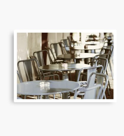Terras in France Canvas Print