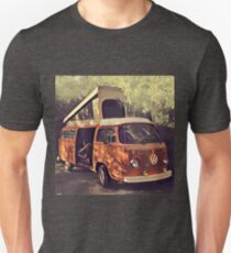 Orange Vintage VW Westfalia Camping T-Shirt