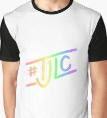 #TJLC text, rainbow Graphic T-Shirt