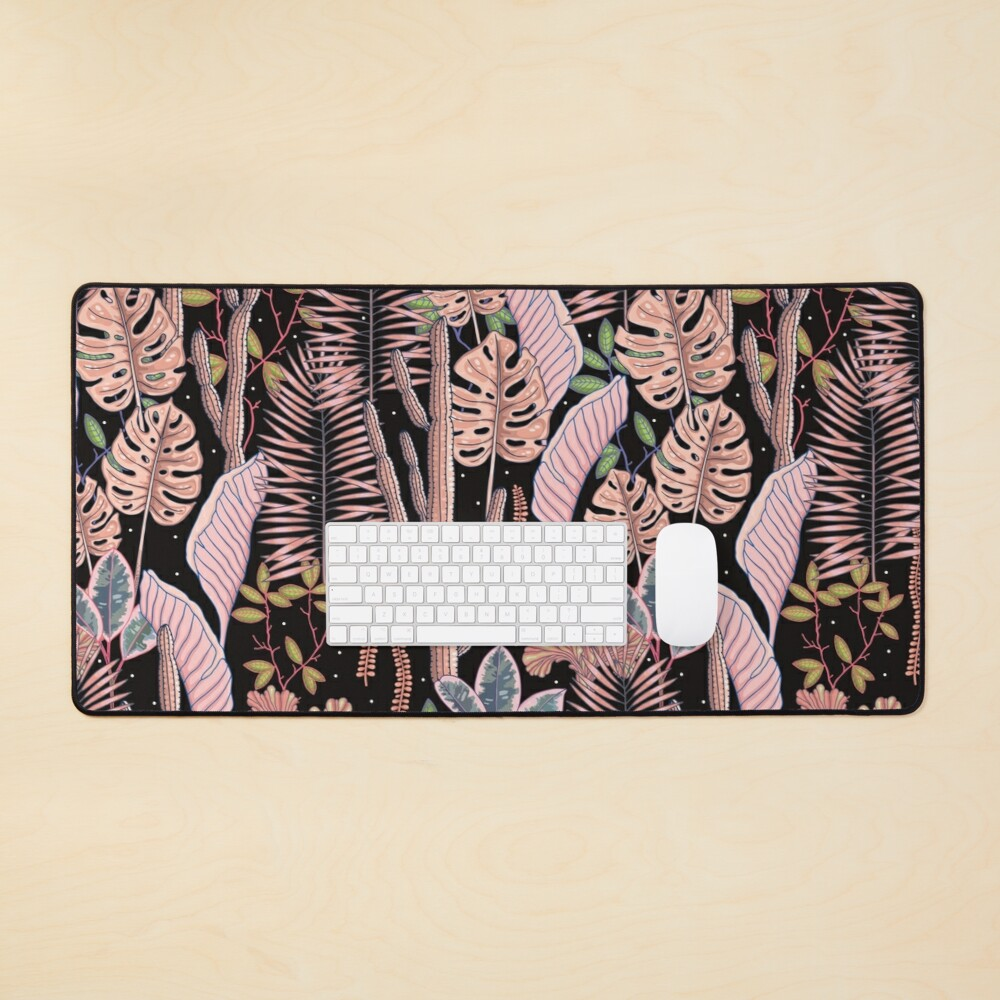 Pink mystery garden. Mouse Pad