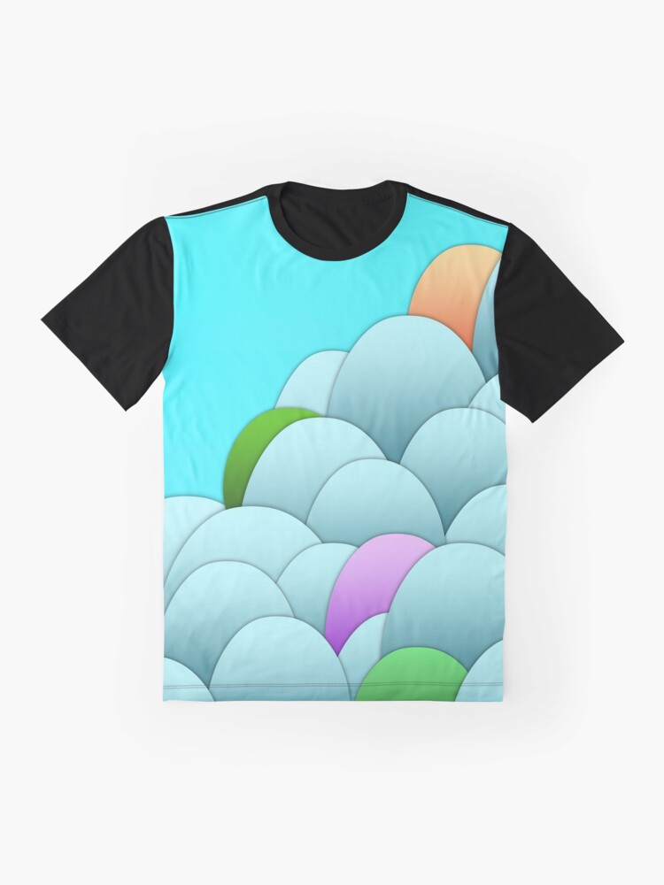 Alternate view of Chicken Eggs - Blue Graphic T-Shirt