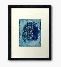 mosaic in cyan Framed Print