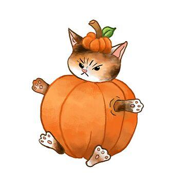 Pumpkin Cat by catherinehom
