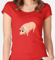 Porco Rosso Back To Home Women's Fitted Scoop T-Shirt