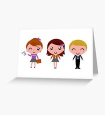 Cute Kids school artistic Characters : New edition 2016 Greeting Card