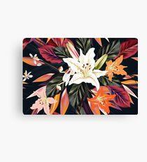 Beautiful vintage floral art edition : purple, white Hawaii edition 2016 Canvas Print