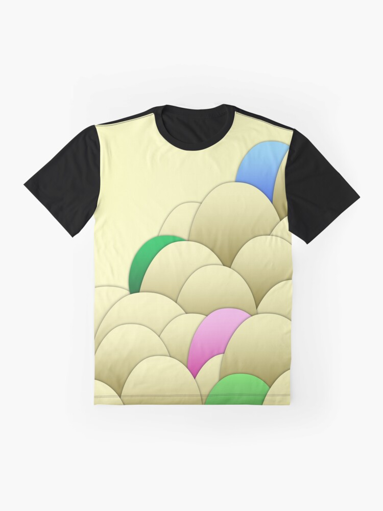 Alternate view of Chicken Eggs - Natural Graphic T-Shirt