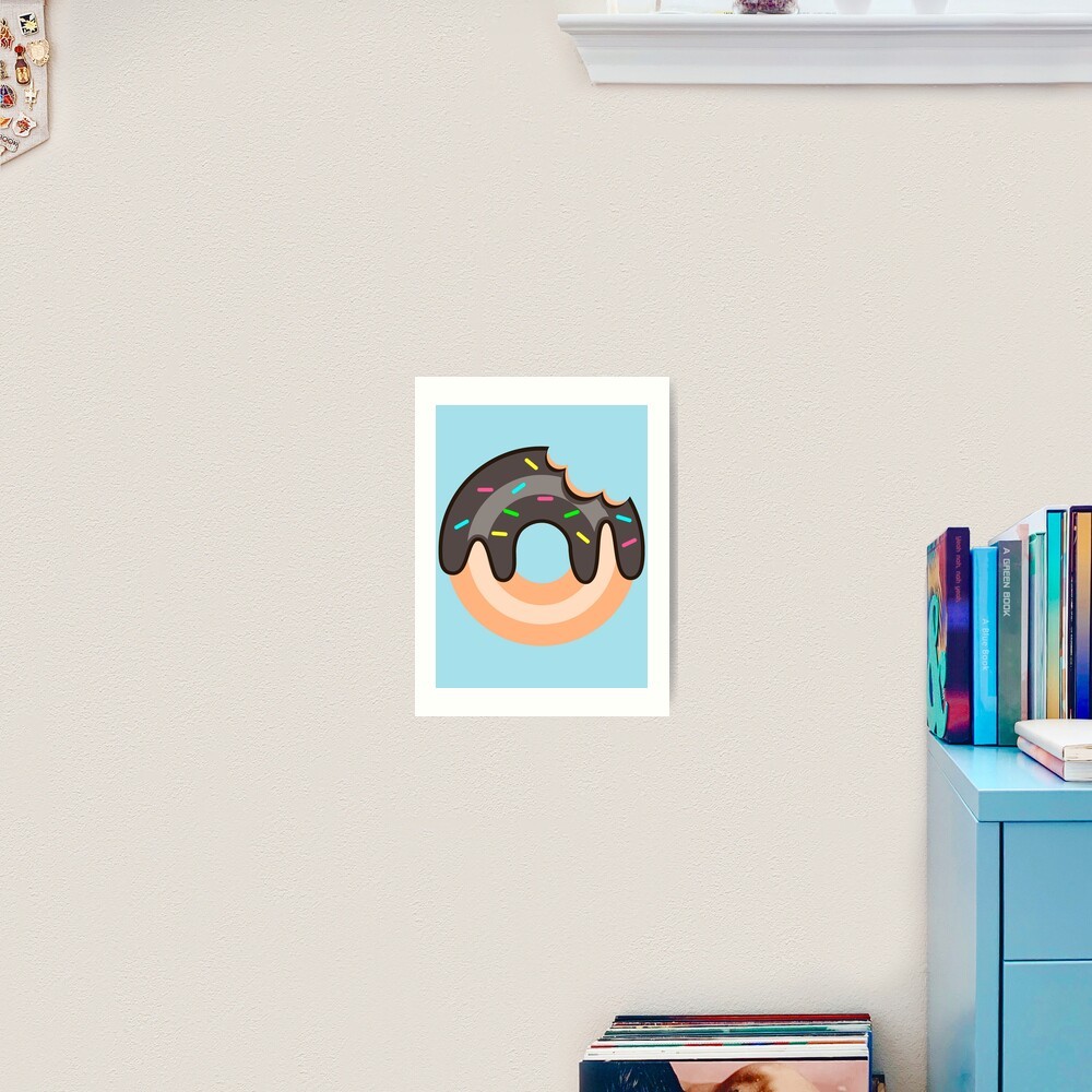 Chocolate Donut Art Print