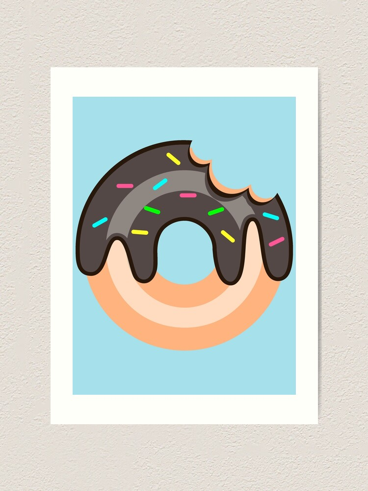 Alternate view of Chocolate Donut Art Print