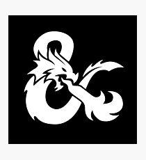 DND White Logo Photographic Print