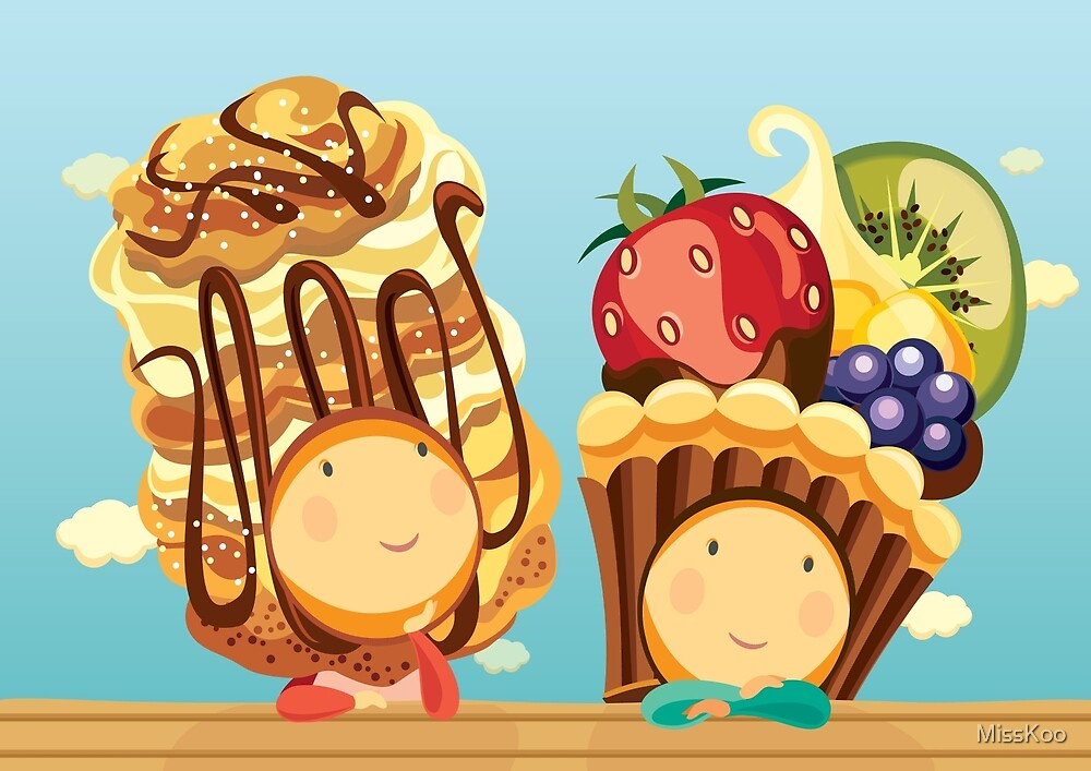 Cream Puffelia & Fruit Tartelia by MissKoo