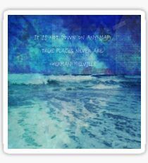 Seascape with Herman Melville Quote Sticker