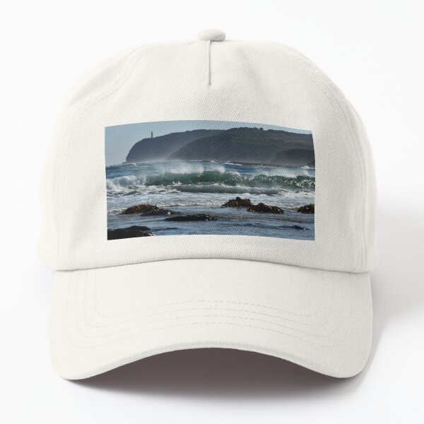 Seascape with lighthouse Dad Hat