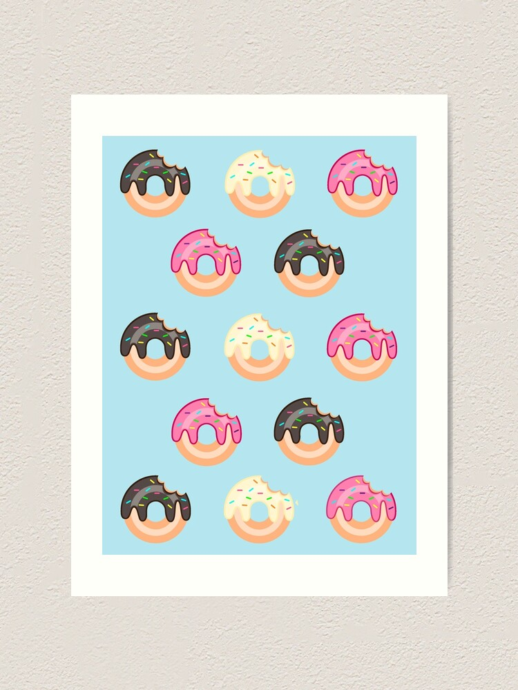 Alternate view of Triple Treat Donuts Art Print