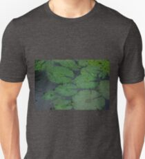 Tropical Raindrops & Water Lilly Pads  T-Shirt