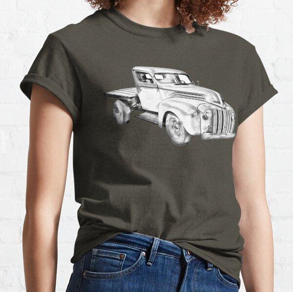 1947 Ford Flat Bed Pickup Truck Illustration Classic T-Shirt