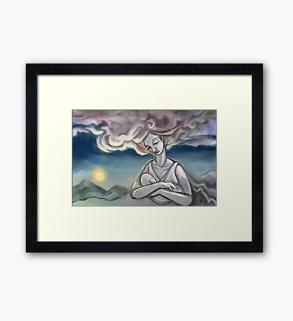 Sketch of the day 9/3/14 Framed Print