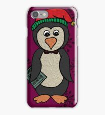 Percy Penguin Goes Carol Singing iPhone Case/Skin