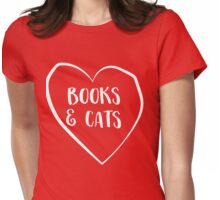 Books and Cats Womens Fitted T-Shirt