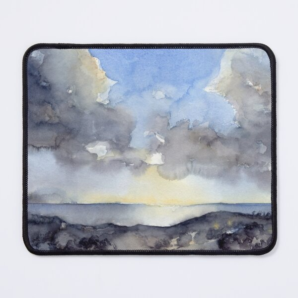Wolken über dem Meer, Aquarell Mauspad