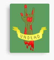 Undead Zombie Design Canvas Print