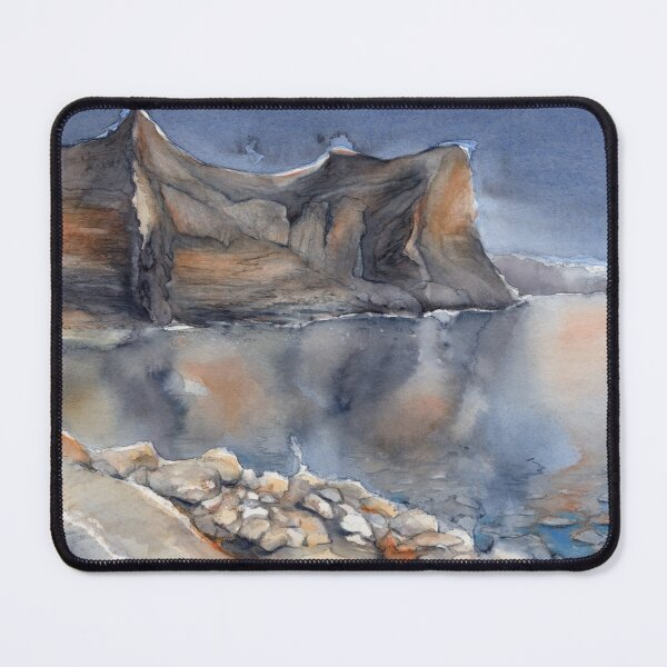 Reflection in the Mediterranean sea, watercolor Mouse Pad