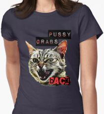 Pussy Grabs Back Women's Fitted T-Shirt