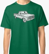 1975 Ford F100 Explorer Pickup Truck Illustrarion Classic T-Shirt