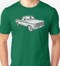 1975 Ford F100 Explorer Pickup Truck Illustrarion T-Shirt