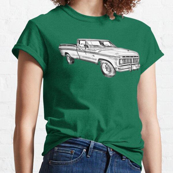 1975 Ford F100 Explorer Pickup Truck Illustrarion Classic T-Shirt