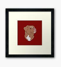 Pit Bull Pride- Red Framed Print