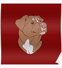 Pit Bull Pride- Red Poster