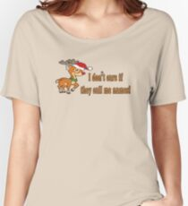 Rudolph - I don't care  Women's Relaxed Fit T-Shirt