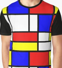 Retro Mondrian Pattern Graphic T-Shirt