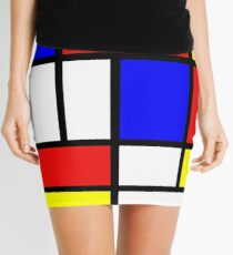 Retro Mondrian Pattern Mini Skirt