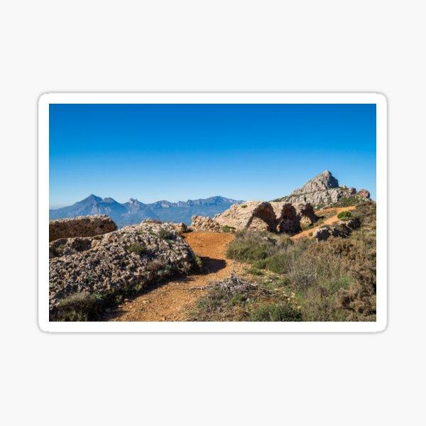 Malerische Ruinen einer alten Festung in Spanien Sticker