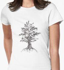 Tree sketch  Women's Fitted T-Shirt