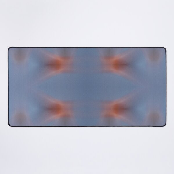 Abstract movement in universe. Blue meets red energy. Desk Mat