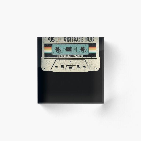95th Birthday Gifts Shirts Vintage 1926 Original Parts Cassette Acrylic Block