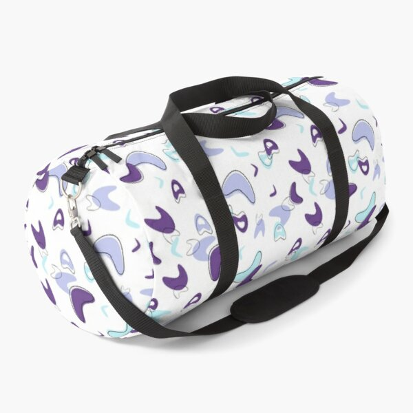 Purple and Blue Mid-Century Modern shapes Duffle Bag